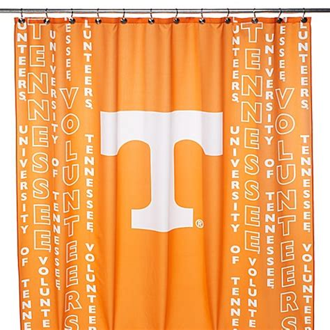 uni shower curtains buy university of tennessee 71 inch x 71 inch shower