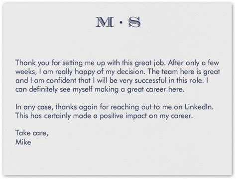 Thank You Letter Linkedin Thank You Letter To Recruiters Email Thank You For Meeting Letter Simple Thank You Letters 28