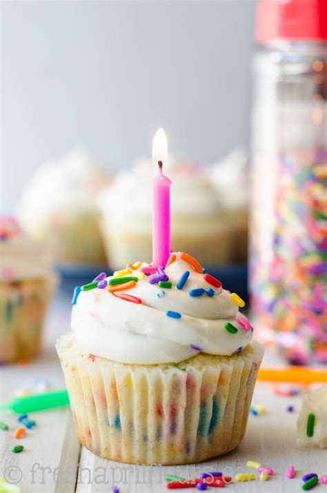 homemade funfetti cupcakes happy 1st birthday fresh april flours