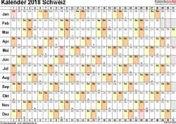 Kalender 2018 Schweiz Basel Deutschland 2017 A4 Quer Excel
