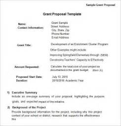 grant proposal template 9 download free documents in