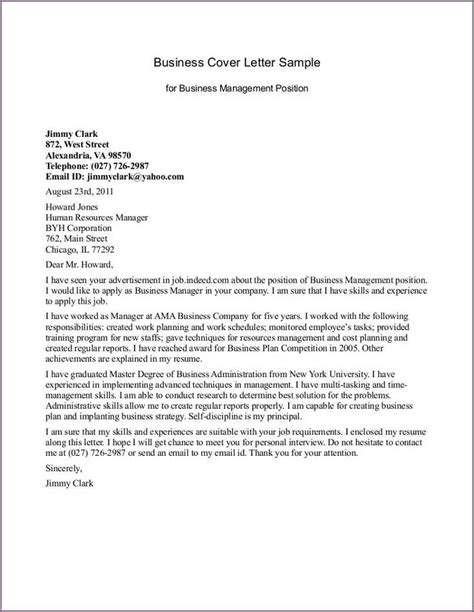 Management Letter Template by Exle Business Letter Proposalsleletter