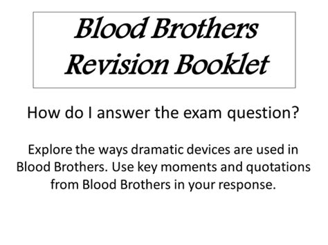 Blood Brothers Essay Help by Blood Brothers Gcse Coursework Writefiction581 Web Fc2