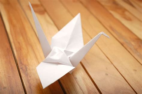 Wikihow Origami Crane - how to fold a paper crane