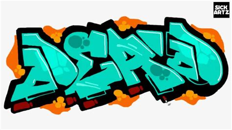 draw graffiti dead speed painting tutorial sketch