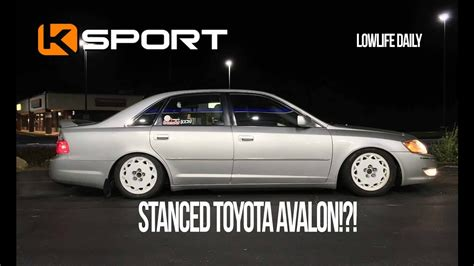 stanced toyota avalon toyota avalon on coilovers