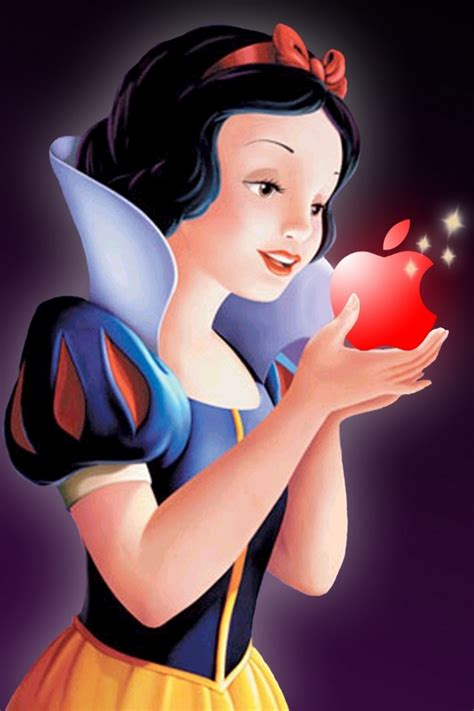 snow white apple iphone ipod touch android wallpapers backgrounds themes