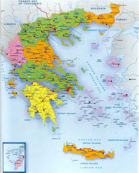 printable road map of greece detailed administrative map of greece greece detailed