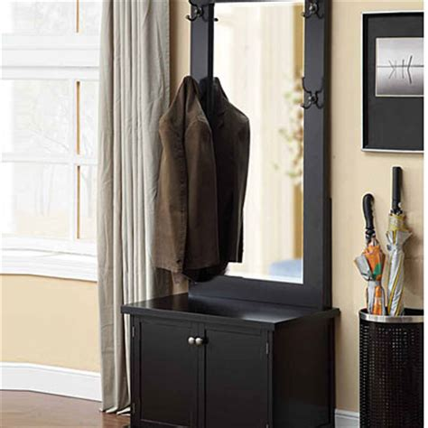 hall tree with storage bench and mirror view hall tree with bench mirror deals at big lots