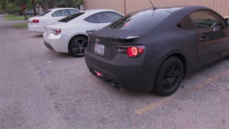 subaru brz matte white brz frs catback exhaust from accelerated performance youtube