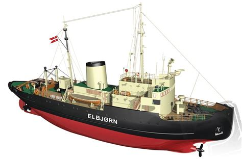 billing boats billing boats b536 elbjorn ice breaker ship model boat