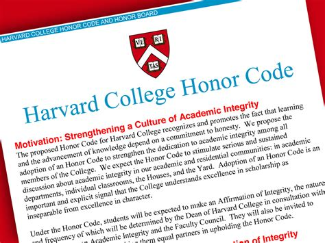 Define Mba From Harvard by Harvard College Adopts Honor Code Harvard Magazine