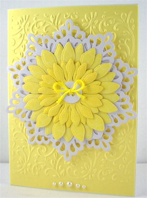 yellow patterned cardstock jenfa cards yellow and white