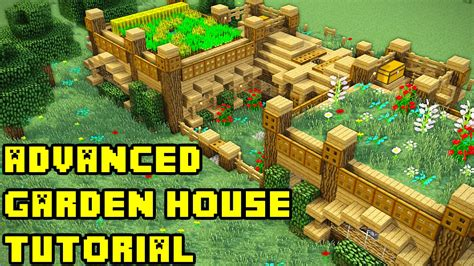 How To Make A Garden House by Minecraft Advanced Garden Mansion House Tutorial Xbox Pc