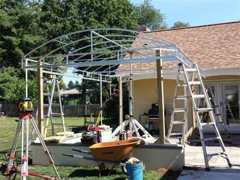 Canopy Installation Patio Cover Arched Design Kreider S Canvas Service Inc