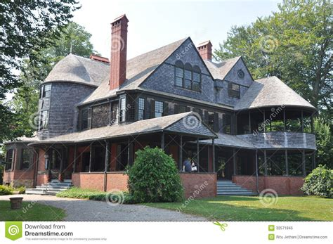 Isaac Bell House by Isaac Bell House In Newport Royalty Free Stock Photo