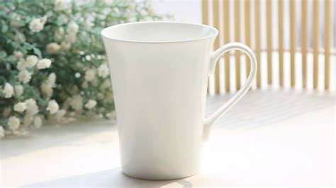 porcelain coffee mugs 370ml bone china white porcelain cup white porcelain