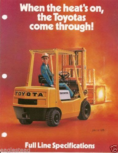 toyota product line fork lift truck brochure toyota product line overview