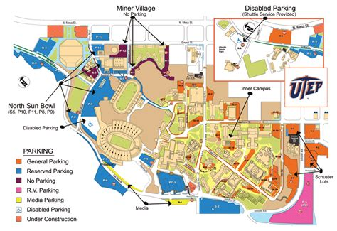 university of texas parking map the official site of utep athletics