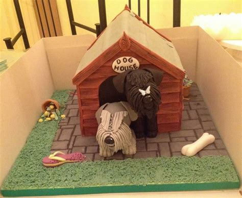dog house cake in the dog house schnauzers cake cakes pinterest