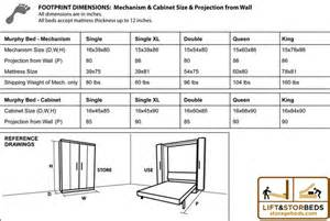 Murphy Bed Kit Specs Murphy Bed Diy Hardware Kit Lift Stor Beds
