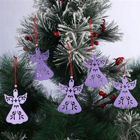 exquisite christmas ornaments 5pcs lot non woven fabric hollow exquisite pendant hanging ornaments wholesale