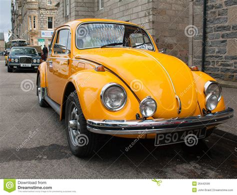 old volkswagen yellow yellow vw beetle editorial stock image image 26442599