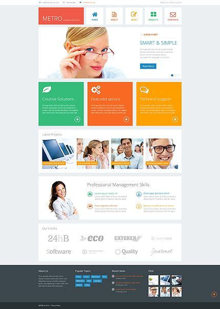 template 44910 business responsive wordpress theme with