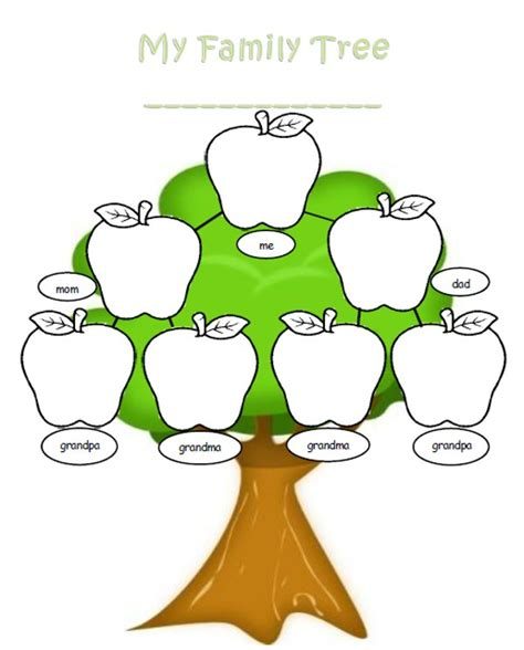 free family tree printable template family tree for template clipart best