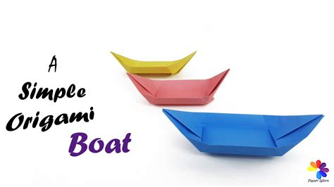 origami boat canoe origami boat paper craft how to make a simple origami