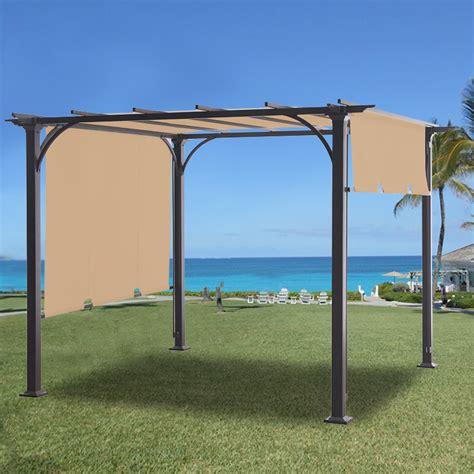 threshold gazebo string lights replacement canopy for threshold pergola riplock 350