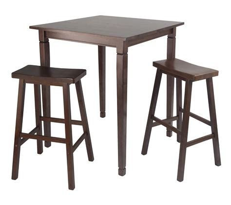 Dining Table With Stools Winsome 3pc Kingsgate High Pub Dining Table With Saddle
