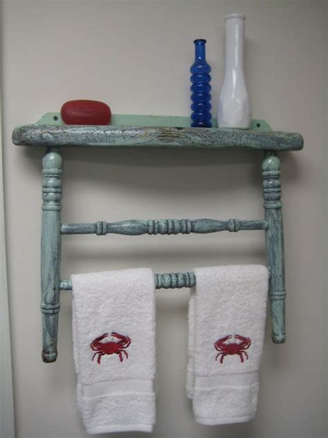 things to make you use the bathroom antique chair back repurposed into towel by