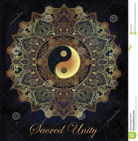 yin and yang mandala symbol stock vector image 61966997
