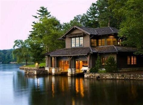 luxury spots on quot cabin on the lake with a boat garage washington http t co gruoqg4cc5 quot