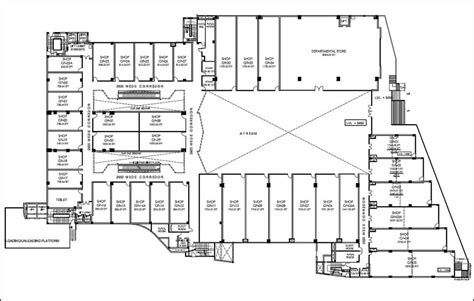 shopping centre floor plan shopping mall floor plans 171 floor plans