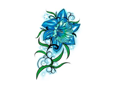 blue flower tattoo designs flower drawings for tattoos free designs beutiful blue
