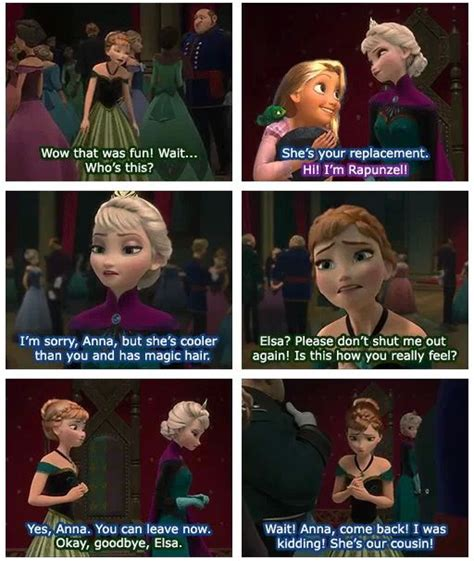 Tangled Meme - anna meeting her replacement cousin rapunzel frozen