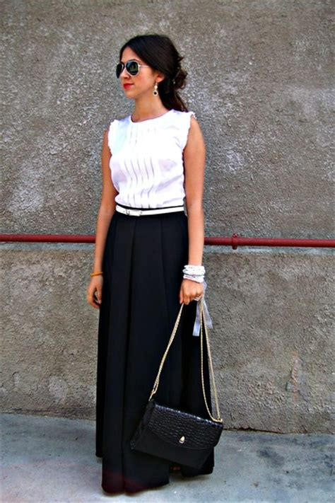 black skirts white blouses quot another take on maxi skirts