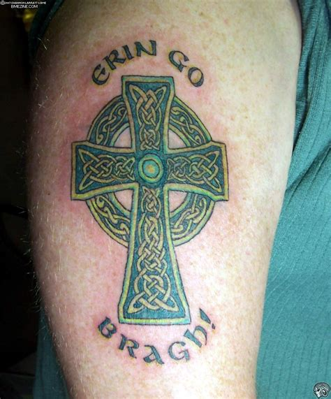 irish cross tattoo celtic cross tattoos