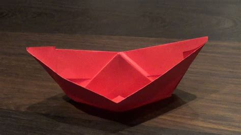 origami boat floats origami boat that really floats on water youtube