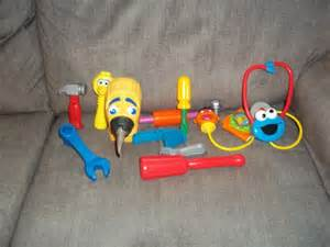sesame street tool bench lot of 12 playskool fisher price toys medical and assorted