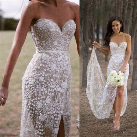 Wedding Dress With Slit by Sweetheart Mermaid Lace Wedding Dress With Slit