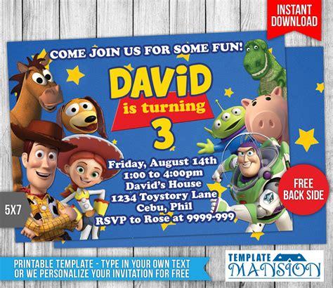 Toy Story Birthday Invitation 1 By Templatemansion On Deviantart Story Invitation Template Free