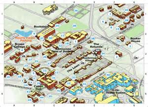 University Of Virginia Map by Gallery Uva Campus Map