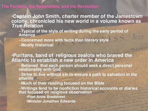 Puritan Religion Essay by Puritans And Rationalists Essay