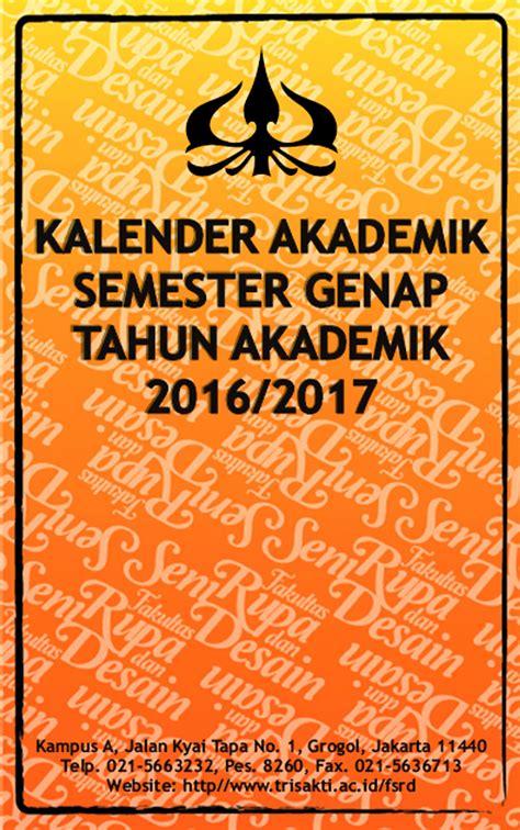 desain kalender akademik detail agenda fakultas seni rupa dan desain