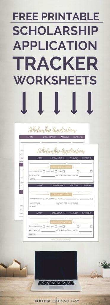 Printable Scholarship Applications 2017