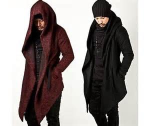 Avant garde unbeatable style diabolic hood cape coat jackets and