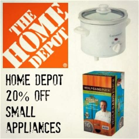 the home depot coupon code 20 small appliances